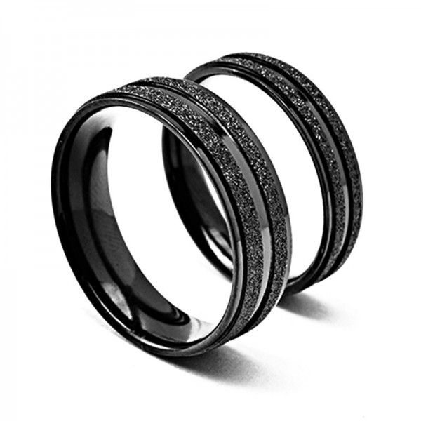 Titanium Black Ring For Couples Dull Polish Craft Simple and Fashion