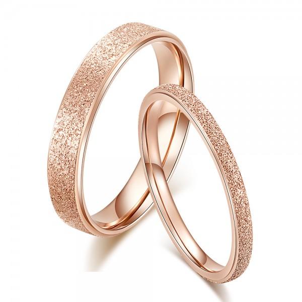 Wonderful Titanium Matte Lovers Rings