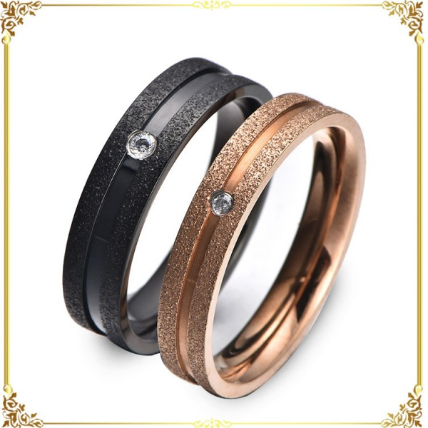 Titanium Matte Round Rings For Lovers
