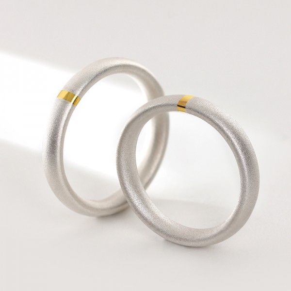 Chic Love Forever Sterling Silver Couple Rings