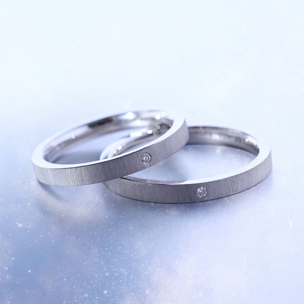 Exquisite S925 Sterling Silver Couple Rings
