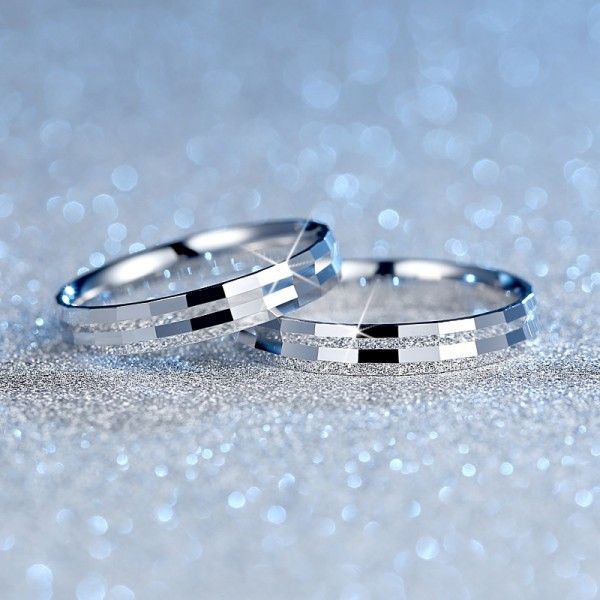 Creative Simple Style S925 Sterling Silver Couple Rings