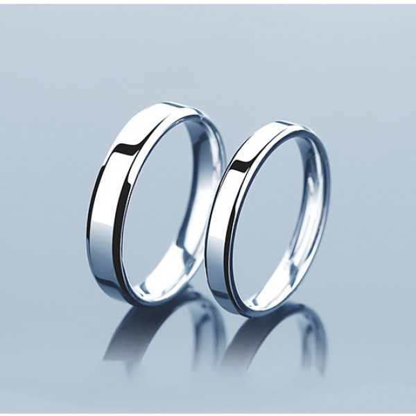 Charming Stylish S925 Sterling Silver Couple Rings