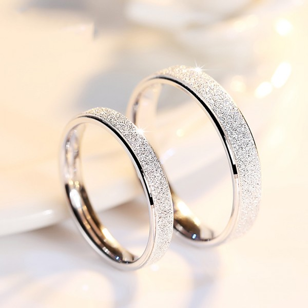 S925 Sterling Silve Ring For Couples Simple and Fashion Style