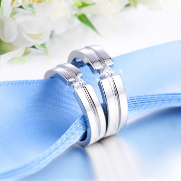 Original Design S925 Sterling Silver Couple Rings