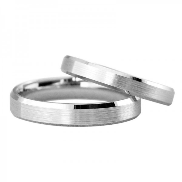 S925 Sterling Silver Silver Couple Rings Brushed Craft Plating Platinum Simple and Fashion