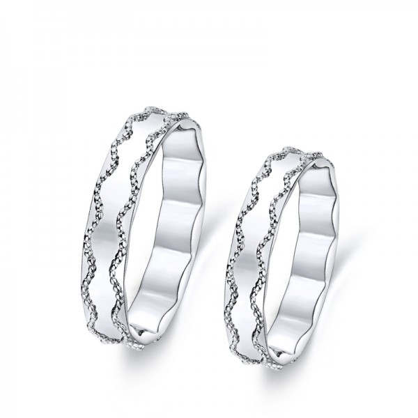 Platinum Material Simple and Fashion Style Couple Rings