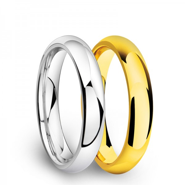 Tungsten Silvery and Golden Ring For Men Simple and Fashion Polish Craft Smooth Design