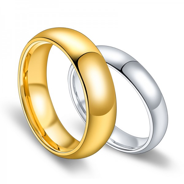 Popular 18K Gold Plated Tungsten Couple Rings