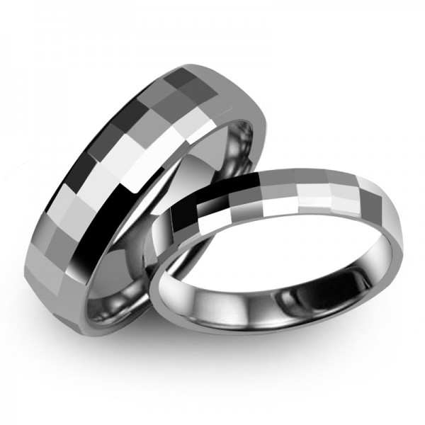 Tungsten Silvery Ring For Couples Simple and Fashion Cutting Surface Polish Craft