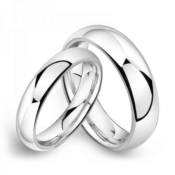 Tungsten Silvery Ring For Couples Simple and Fashion Style Polish Craft