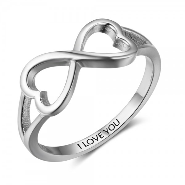 Fang Simple I Love You S925 Sterling Silver Ring