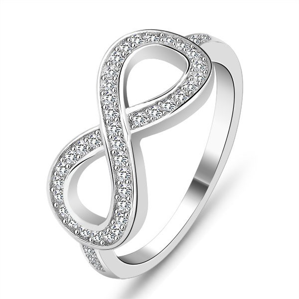 S925 Sterling Silver Eternal Love Cubic Zirconia Ring