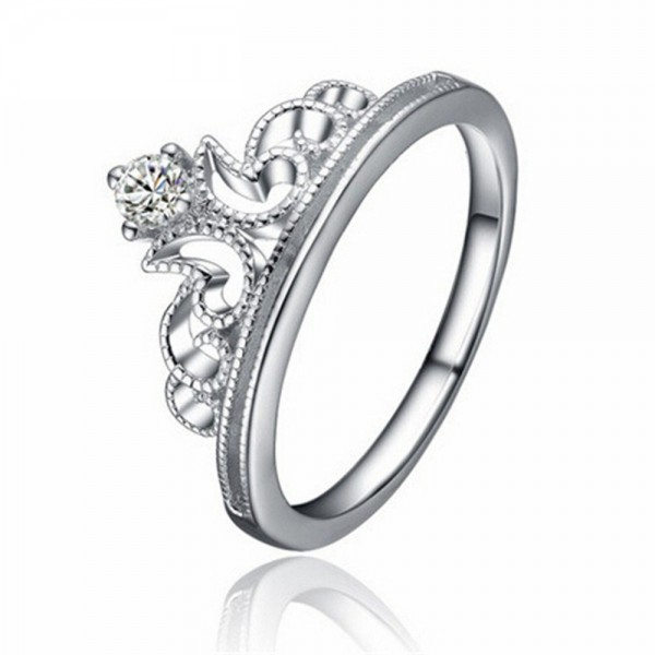 Fashipn 925 Sterling Silver Female Crown Ring