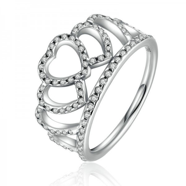 Crown Diamond S925 Sterling Silver Ring