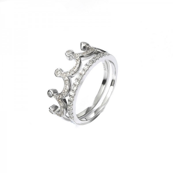 Crown Ring Tail Ring Female Litt Single Index Finger 925 Silver