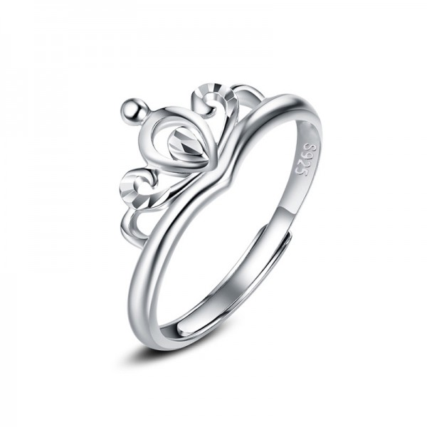 S925 Sterling Silver Fashion Hand-Made Flowers Open Ring