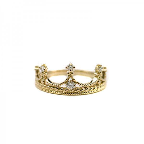 Baroque Small Crown Ring