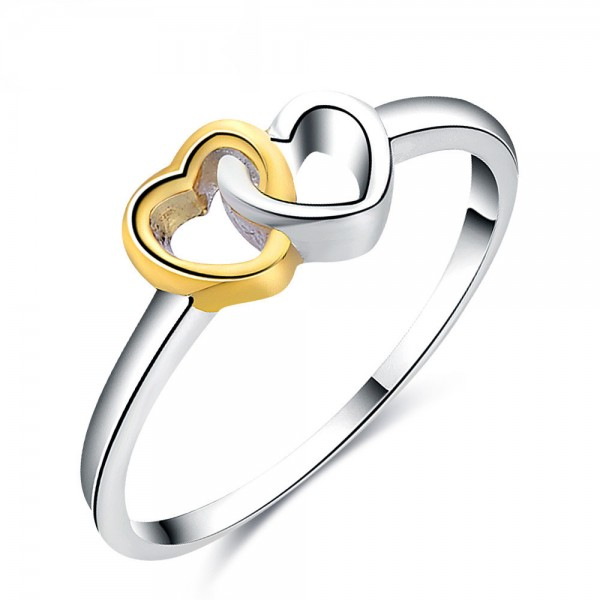Fashion Sterling Silver Gold Plated Sliver Rings