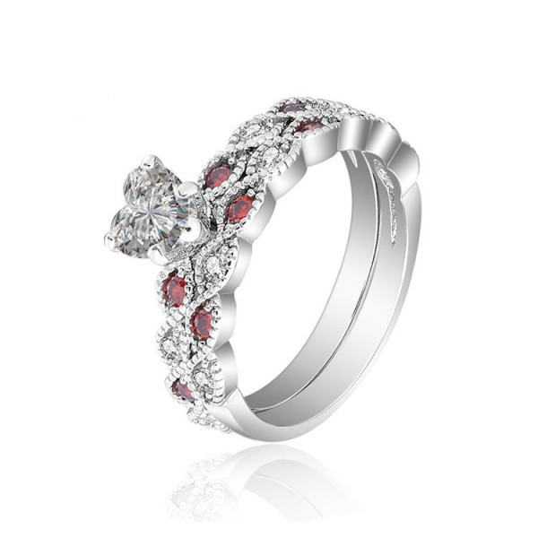 Hot Fashion S925 Promise Wedding Rings Sets