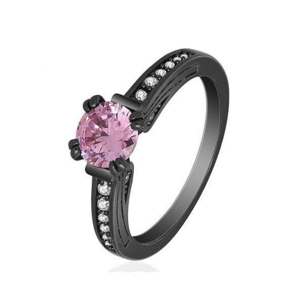 S925 Pink Cz Eight Hearts And Eight Arrows Promise Rings