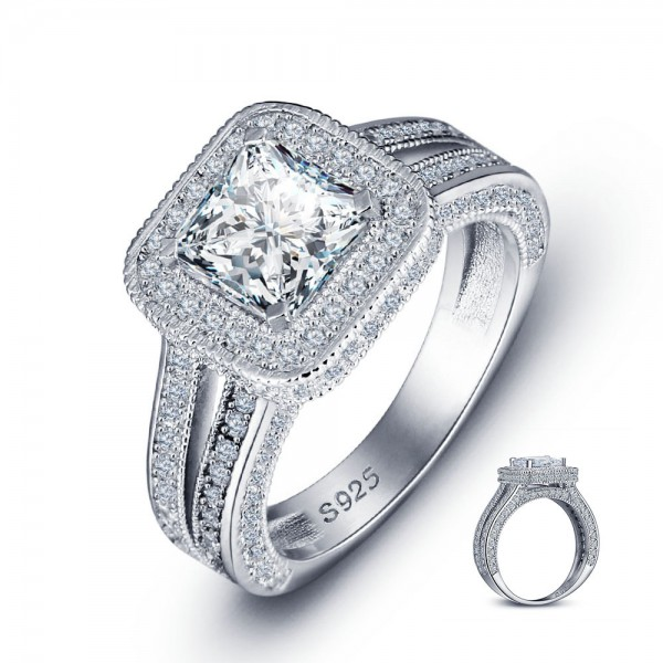 Admirable Marriage S925 Sterling Silver Cubic Zirconia Ring