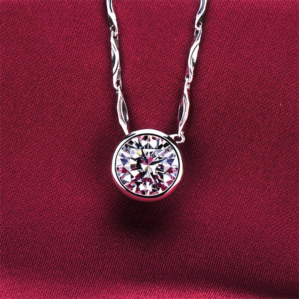 1.0 Carat Round Shape ESCVD Diamonds Fashionable Women Necklaces Gift Necklaces