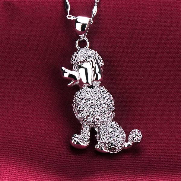 Dog Shape 1.0 Carat ESCVD Diamonds Fashionable Women Necklaces Gift Necklaces