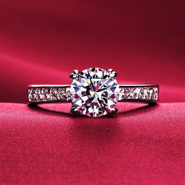 1.2 Carat Superior ESCVD Diamonds Lovers Ring Wedding Ring For Her