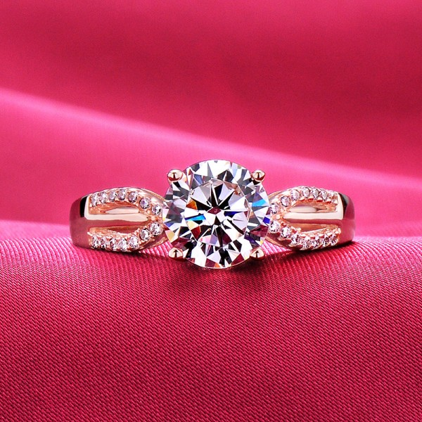 2.0 Carat Sparkling ESCVD Diamonds Lovers Ring Wedding Ring Women Ring