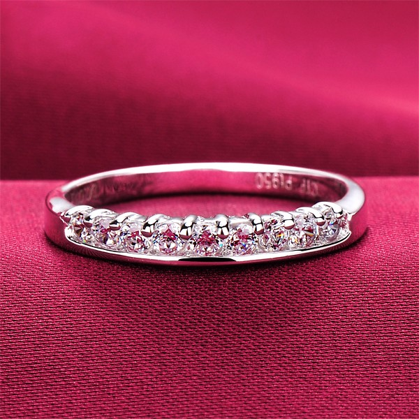 Premier ESCVD Diamonds Pt 950 Wedding Ring Women Ring Tail Ring