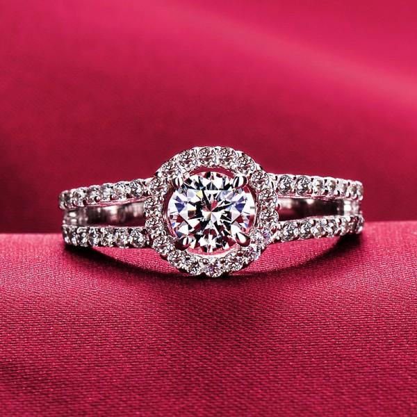 Shinning Like Stars 0.5 Carat ESCVD Diamonds Lovers Ring Wedding Ring For Her