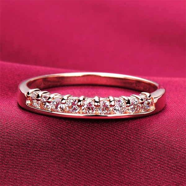 Nine Exquisite Diamonds ESCVD Diamonds Lovers Ring Wedding Ring For Her