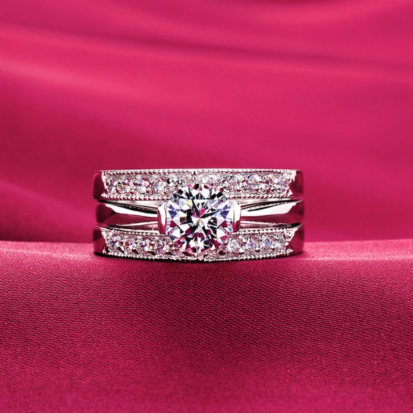 0.6 Carat Charming ESCVD Diamonds Lovers Ring Wedding Ring For Her