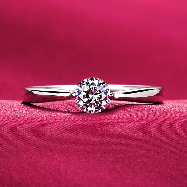 Chic 0.28 Carat ESCVD Diamonds Lovers Ring Wedding Ring For Her