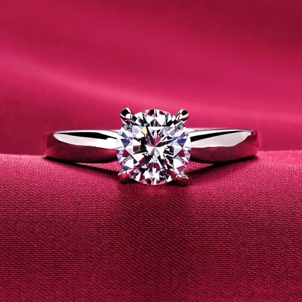 1.2 Carat Four Claw ESCVD Diamonds Lovers Ring Wedding Ring For Her