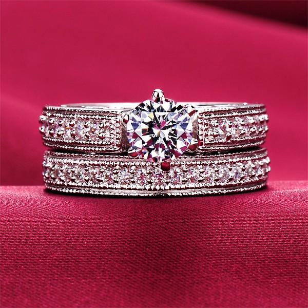 Honourable 0.6 Carat ESCVD Diamonds Lovers Ring Wedding Ring Women Ring
