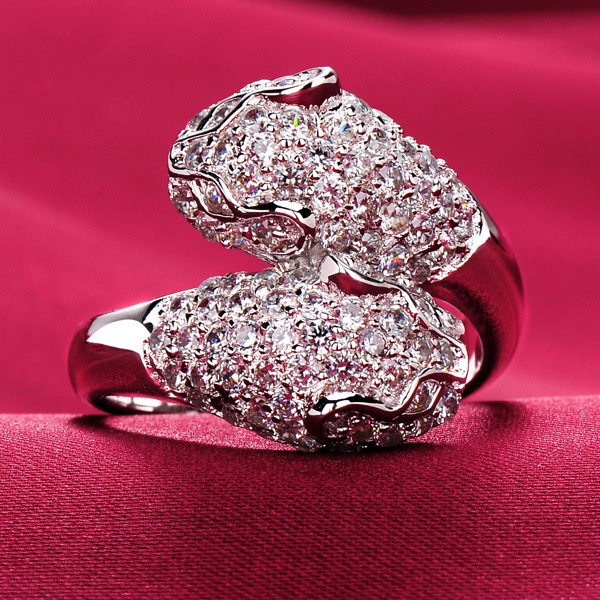 1.0 Carat Big Diamond High-Class ESCVD Diamonds Lovers Ring Wedding Ring For Her