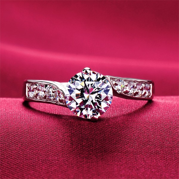 0.8 Carat High-End ESCVD Diamonds Lovers Ring Wedding Ring Women Ring