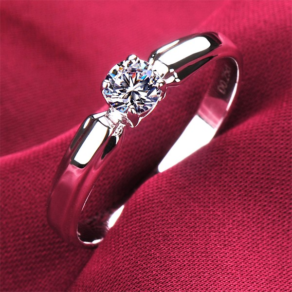 0.2 Carat Small and Exquisite ESCVD Diamonds Lovers Ring Wedding Ring Women Ring