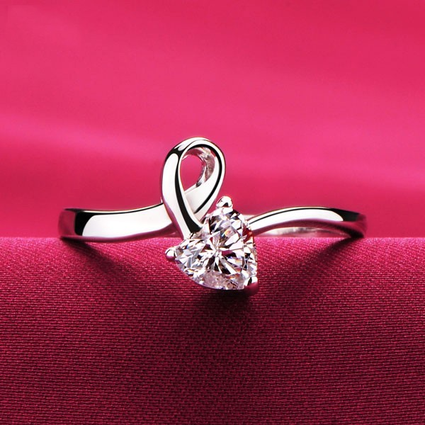 Unique Heart Shape 0.3 Carat ESCVD Diamonds Lovers Ring Wedding Ring Women Ring