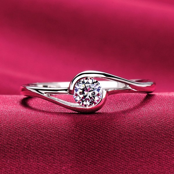 0.25 Carat Clenched Hands ESCVD Diamonds Lovers Ring Wedding Ring Women Ring