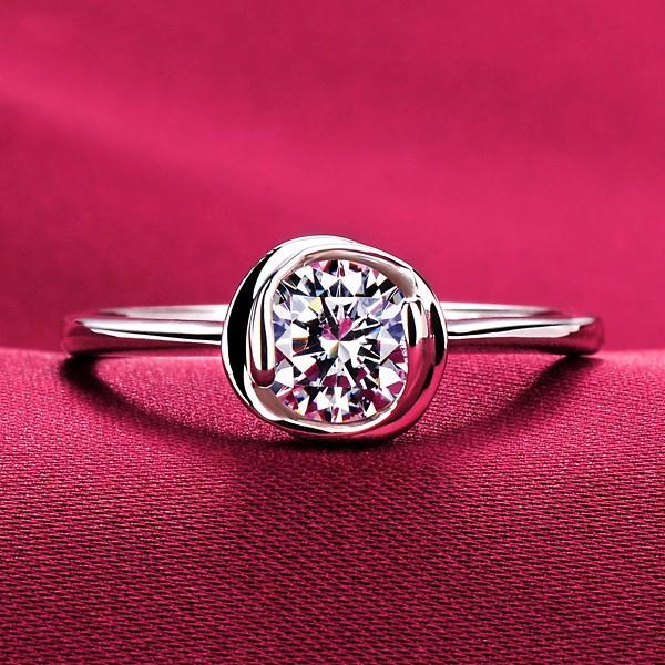 0.6 Carat Toroidal ESCVD Diamonds Lovers Ring Wedding Ring Women Ring
