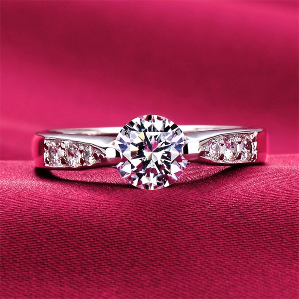 0.6 Carat Fine Cutting ESCVD Diamonds Lovers Ring Wedding Ring Women Ring