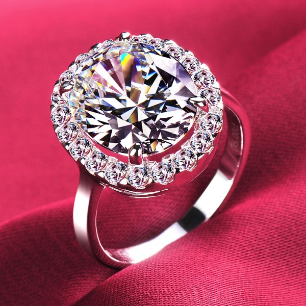 5.0 Carat Luxuriant ESCVD Diamonds Lovers Ring Wedding Ring Women Ring