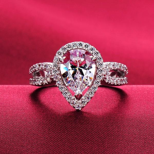 1.0 Carat Heart Shape ESCVD Diamonds Lovers Ring Wedding Ring Women Ring