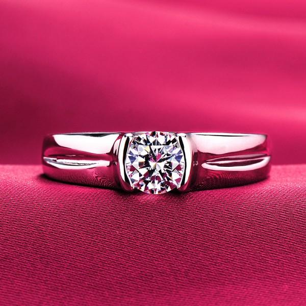 0.6 Carat Handsome ESCVD Diamonds Lovers Ring Wedding Ring Men Ring