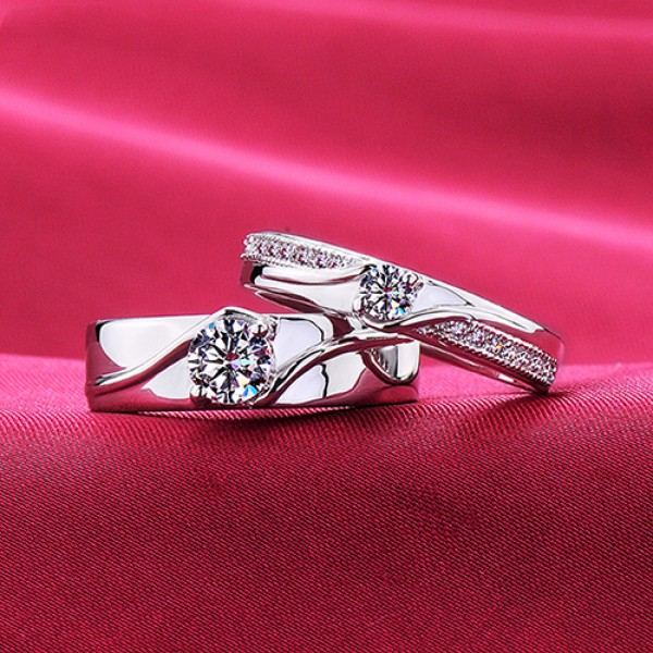 Hand In Hand ESCVD Diamonds Lovers Rings Wedding Rings Couple Rings
