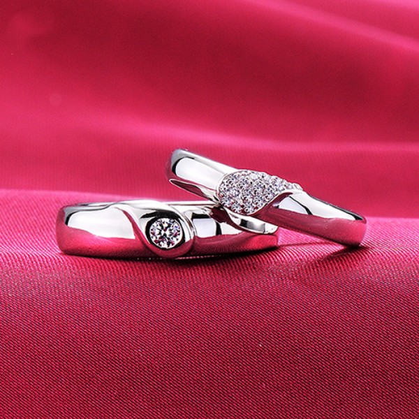 Witness Of Love ESCVD Diamonds Lovers Rings Wedding Rings Couple Rings