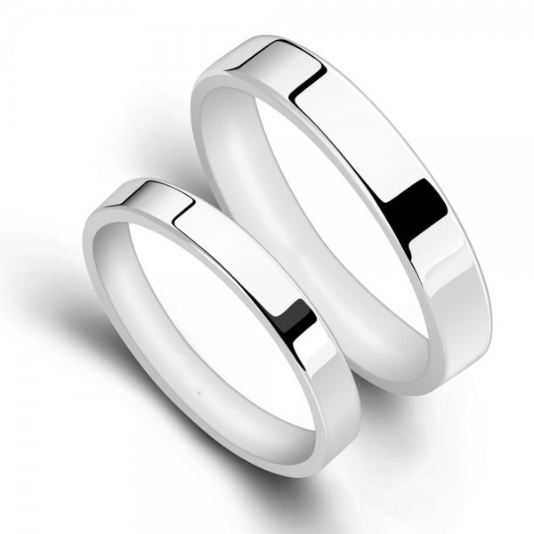 Sterling Silver Ring For Couples Simple and Fashion Style Polish Craft